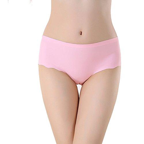 FZmix Fashion Panties Sexy Underwear Women One-Piece Seamless Sexy Panties For Women Briefs Pink
