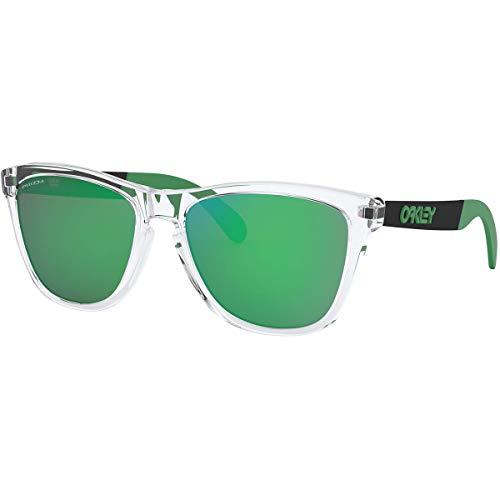 Oakley Men's OO9428 Frogskins Mix Round Sunglasses, Polished Clear/Prizm Jade, 55 mm (Oakley Frogskin Frauen)