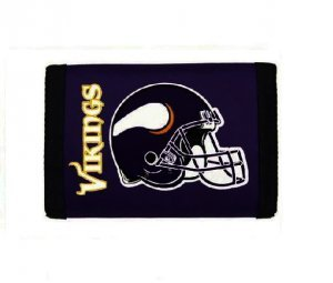 NFL Minnesota Vikings Nylon Trifold Wallet. Minnesota Vikings Wallet 749ab074e