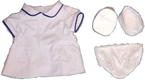 ダッフィー シェリーメイ Sサイズ用 ナース風 衣装 看護士 白衣 (ナースシューズ(底がしっかり)、ショーツあり)