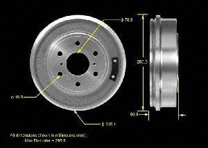 Bendix PDR0800 Brake Drum