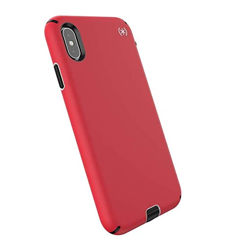 Speck Products Compatible Phone Case for Apple iPhone XS Max, Presidio Sport Case, Heartrate Red/Sidewalk Grey/Black ()