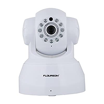 FLOUREON 720P WiFi Security Camera Home Wireless Surveillance IP Camera P2P Indoor Dome Baby Monitor with Night Vision Pan/Tilt Two Way Talk (White)