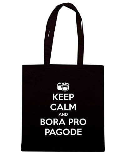 Borsa BORA CALM PRO KEEP PAGODE AND Shopper Nera TKC0972 a6qvZwaF