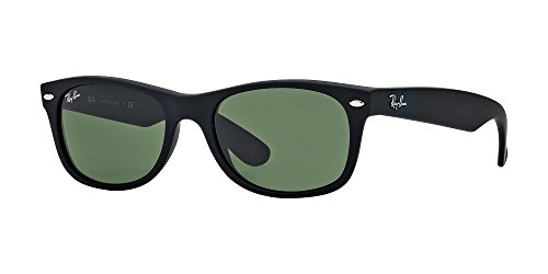 Ray Ban RB2132 622 55M Black Rubber/Green+FREE Complimentary Eyewear Care Kit