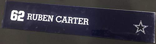(Ruben Carter Game Used Locker Room Name Nameplate 36
