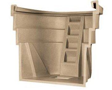 Wellcraft 2060 Series Single Unit Egress Window Well - Sandstone Granite