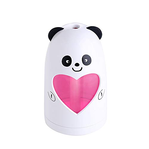 - E-Scenery Mini Cool Mist Humidifier, Cute Animal 180ml Aroma Essential Oil Diffuser for Office Home Car Study Yoga Spa Travel, Whisper-Quiet Operation & Automatic Shut-Off (White)