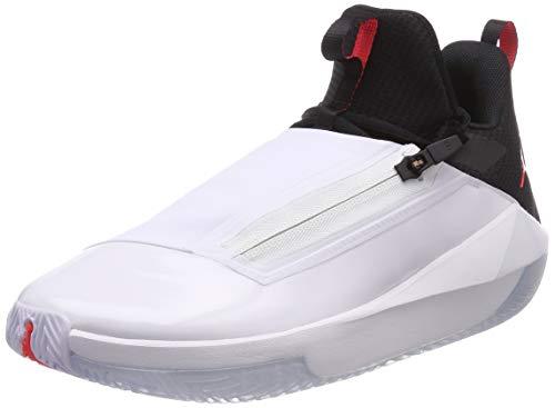Jordan Men's Jumpman Hustle Basketball Shoes (9, White/Black)