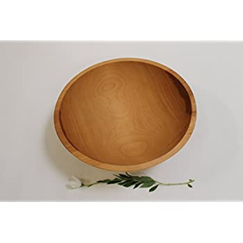 15 Inch Solid Beech Wood Salad Bowl - Holland Bowl Mill