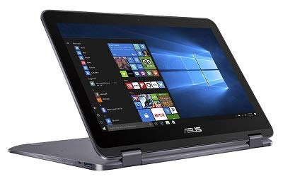 2018 New ASUS Vivobook Flip 12 2-in-1 Convertible Touchscreen Laptop, Intel Celeron N3350 up to 2.4GHz, 4GB RAM, 500GB HDD, Finger Print Reader, ASUS Stylus Pen, 802.11ac, USB Type-C, Win ()