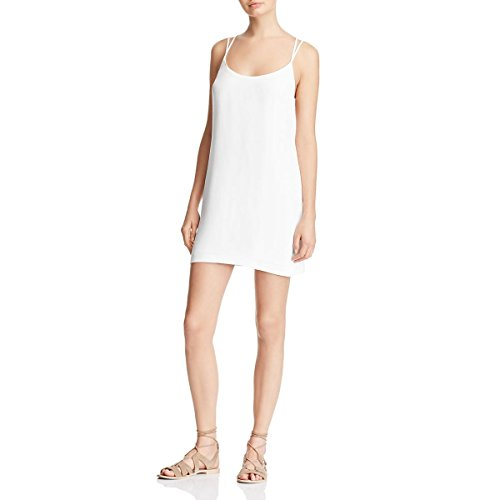 French Connection Womens Crepe Open Back Mini Dress White 10 by French Connection