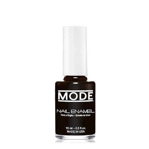 MODE Nail Enamel - .50 fl oz. Long Wear, High Gloss, Chip Resistant, Cruelty-Free, Vegan, Salon Nail Polish Formula - MADE IN THE BEAUTIFUL USA (Blackest Black Shade #160)