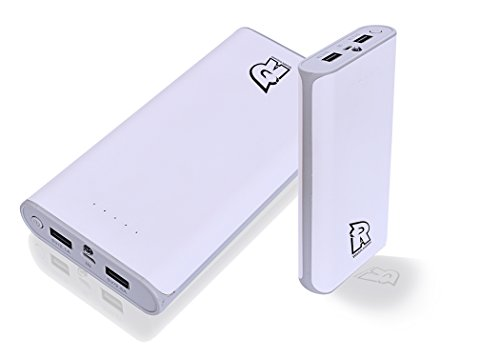 Rotry RI 2000 Jumbo 20800 mAh Dual Port  2.5A Fast Charging  Power Bank  White/Grey, Lithium ion