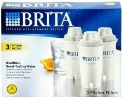 Brita OB03 Replacement Pitcher Filters (3-Pack) (Brita Water Pitcher Smart)