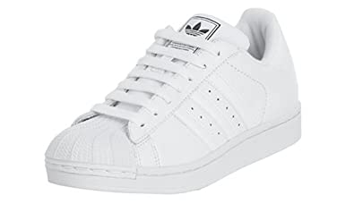 adidas Originals Women's Superstar II Basketball Shoe, White/White, ...