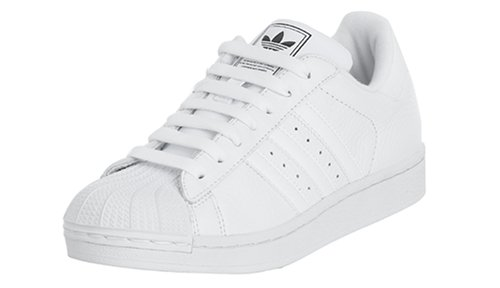 adidas Originals Women\u0027s Superstar II Basketball Shoe, White/White, ...