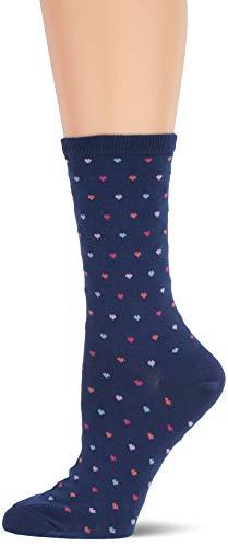 - Hot Sox Girls' Big' Novelty Geometric Pattern Crew Socks, Pin Dot Heart (Dark Blue), Shoe Size: 4-10 Size: 9-11