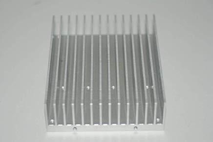 Large Rectangle Aluminum Heatsink with Screw Mount 135mm X 105mm X 34mm