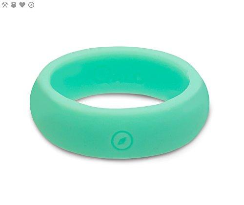 QALO Women's Aqua Foxfire Classic Outdoors Silicone Ring Size -