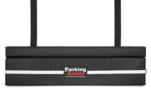 PARKING ARMOR 4.8 – (48″ Wide x 12″ Tall) Indoor/ Outdoor Ultimate Rear Bumper Protector, Steel Reinforced Straps, Widest Bumper Protection, Thickest Bumper Guard, STEEL REINFORCED STRAPS PREVENT THEFT !
