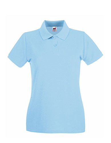 Fruit of the Loom - Lady-Fit Premium Polo - Sky Blue - XS (8) XS / 8,Sky Blue