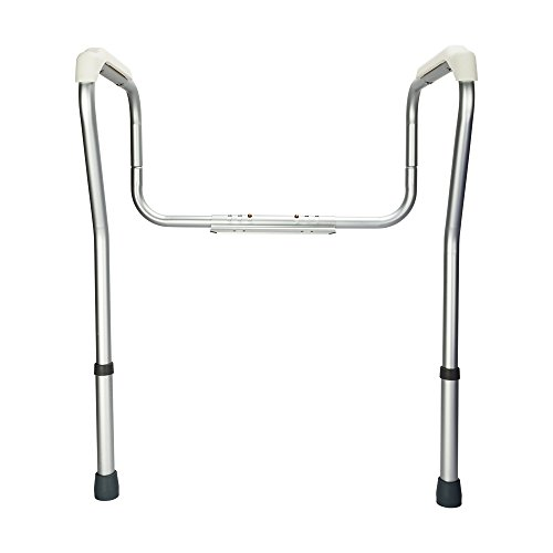 OvMax Toilet Safety Frame, Bathroom Safety Rail with Toilet Seat Assist Handrail Grab Bar, Medical Supply for Elderly, Adjustable Legs and Arm by OvMax (Image #6)