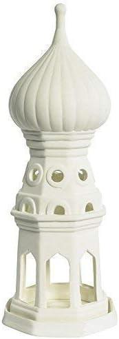 Kremlin En Moscou Photophore Lampe Porcelaine de Biscuit Fjodor Tour