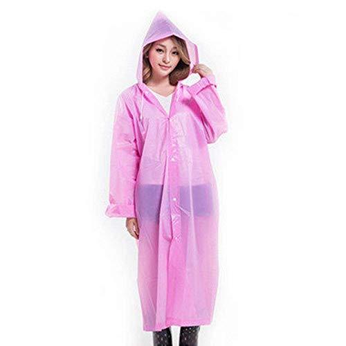 Plein Voyage Pink Épais Casual Poncho À Pluie Section Longue De Dame Adulte Air L'eau En Imperméable Vestes Capuche A4xFRqt