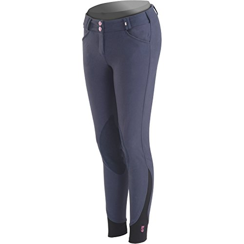 Tredstep Symphony Ladies Rosa Knee Patch Riding Breeches 30 inch French Blue