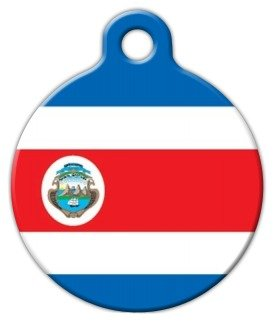 Costa Rica Flag Pet ID Tag for Dogs and Cats - Dog Tag Art - SMALL (Dollar Costa Rica)