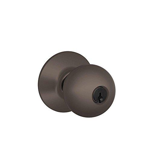 Schlage F51A ORB 613 Orbit Knob Keyed Entry Lock, Oil Rubbed Bronze