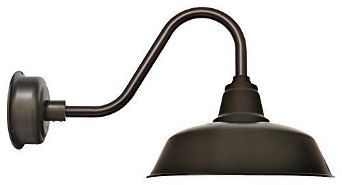 Cocoweb BGYW14MB-15D Goodyear Rustic Gooseneck LED Wall Porch Barnlight, 14'', Mahogany Bronze by Cocoweb (Image #1)