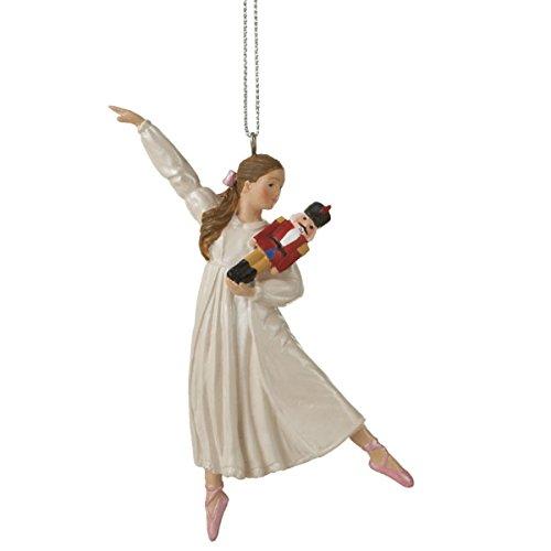 Clara Holding a Nutcracker Christmas Ornament (Nutcracker Ballet Ornament)