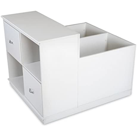 South Shore Mobby Mobile Storage Unit Pure White