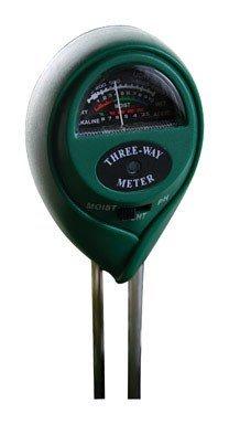 Hydrofarm MGMLP1 Active Air 3-Way pH, Light & Moisture Meter