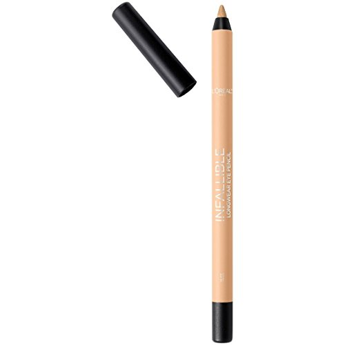 L'Oreal Paris Makeup Infallible Pro-Last Pencil Eyeliner, Waterproof & Smudge-Resistant, Glides on Easily to Create any Look, Nude, 0.042 oz.