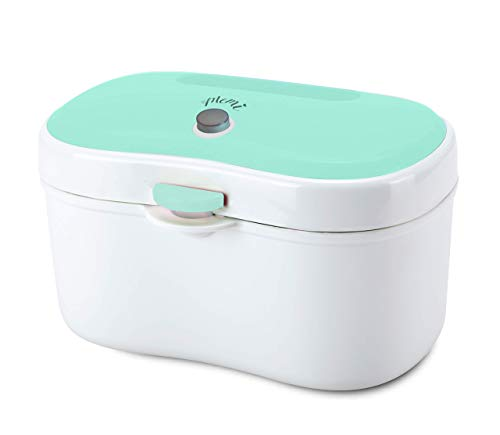 (MEMI Cozy Wipe Warmer and Dispenser | Modern | Convenient | Neat Design | USB Charging with Plug| Baby Gift | Green)