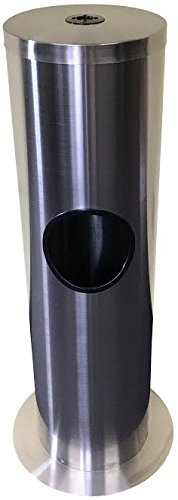 AgileFIT Stainless Steel Wipes Dispenser with Trash Can