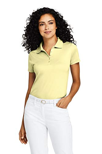 Lands' End Women's Supima Cotton Short Sleeve Polo Shirt