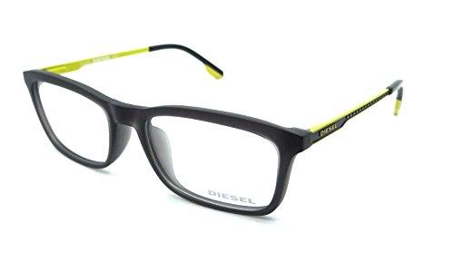 Diesel Rx Eyeglasses Frames DL4048 020 53-17-140 Dark Grey/Yellow