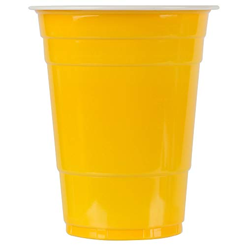 TableTop King 16 oz. Yellow Plastic Cup - 1000/Case
