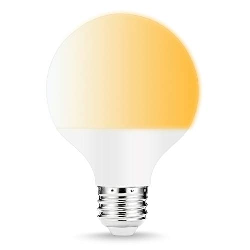 LOHAS G25 Globe Smart WIF LED Bulb, 9W(60W Equivalent), E26 Medium Base, 2000K-6500k (Warm to Daylight White Bulbs), Remote Control LED, 810 Lumen Compatible with Amazon Alexa and Google Assistant