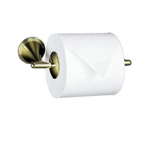 French Gold Toilet Tissue Holder - KOHLER K-361-AF Finial Traditional Toilet Tissue Holder, Vibrant French Gold