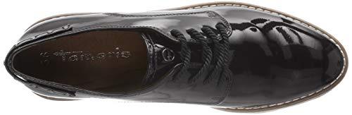 para 21 Zapatos 18 23304 Patent de Mujer Black Oxford Cordones Negro Tamaris fYgTqww