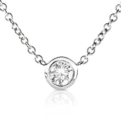necklace diamond platinum solitaire pendants single necklaces london pendant