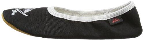 Captn Sharky Justus 140007 - Zapatillas de gimnasia para niño, color azul, talla 31 Negro (Schwarz (schwarz/grau 1))