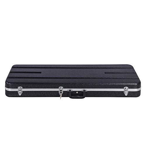 Yaheetech ABS Electric Guitar Case Elegant Hardshell Bass Case for Strat/Telecaster Style Flight with Lock Latch Keys Black by Yaheetech (Image #6)