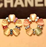 Set auger drill pearl earrings