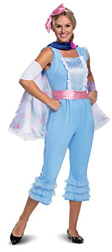 Adult Bo Peep Costumes (Disguise Disney Pixar Bo Peep Toy Story 4 Deluxe Women's Costume, Blue, M)